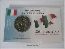 """2 Euro Gedenkmünze Italien 2011 """"150 Jahre Vereinigung"""" in Coincard/InfoKarte"""