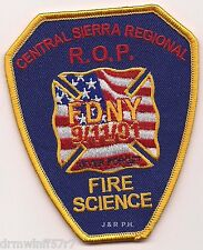 "Central Sierra Regional R.O.P. Fire Science, CA  (3.25"" x 4"" size)  fire patch"