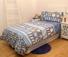 Jelly Bean Kids JNR COMMANDER Blue Boys SINGLE Quilt Doona Cover Set