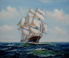 Sailing Ship 16, Quality Hand Painted Oil Painting 20x24in