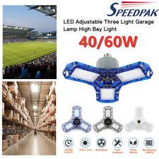 40/60W Led Garage Light Beyond Bright Adjustable Three Blade Foldable Light