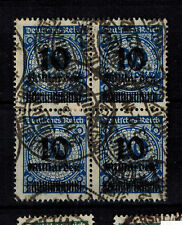 225 Vollstempel Gestempelt Düsseldorf Posthorn Deutsches Reich Senk Paar Minr