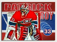 Wow! PATRICK ROY ART HOCKEY CARD. Professionally designed!! only 33made!