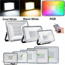 LED Fluter Strahler Scheinwerfer Flutlicht 50W 100W 200W SMD Außen 220V IP67 RGB