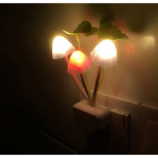 Mushroom Avatar Night Light Bed Saving LED Sensor Light Romantic Lamp US Plug