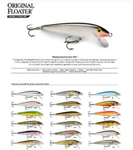 Rapala Original Floating // F03 // 3cm 2g Fishing Lures (Choice of Colors)