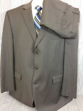 Michael Kors Mens Brown Striped Wool 3 Button 2pc Suit 50 Long 44x32 (t15)