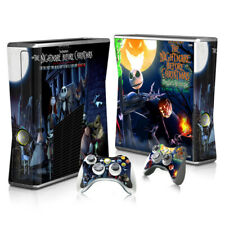 XBOX 360 Slim Skin Sticker Decal Cover 2 Choices NIGHTMARE BEFORE CHRISTMAS