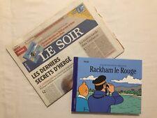 Tintin - Lot BD A la recherche de Rackham le Rouge + Journal LE SOIR / HERGE