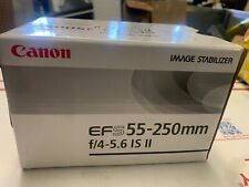Canon EF-S 55-250mm F4-5.6 IS II Zoom Lens - NEW IN BOX -