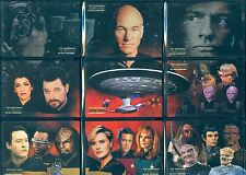 Star Trek TNG Quotable Complete Space The Final Frontier Chase Card Set ST1-9