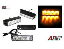 Ámbar 4 Luces LED Coche Camión De Emergencia Faro Flash Estroboscópico Bar advertencia de peligro