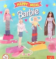 McDonalds Happy Meal Toy 2000 Barbie Doll Character Figures Toys - Various