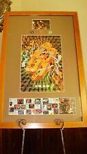 G3 Autographed Tour Poster & Guitar Picks Joe Satriani Steve Vai Eric Johnson 96