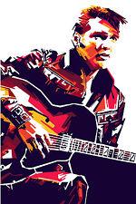 Elvis Presley Guitar Abstract Pop Art WALL ART CANVAS FRAMED OR POSTER PRINT
