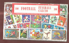 Football 100 All Different Stamp Packet Collection Thematic Sports Soccer Calcio