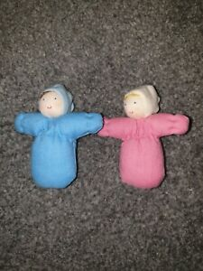 Grimms .  baby doll 7cm. Girl boy pink blue