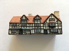 Vintage W.H. Goss Crested China Miniature Model Shakespeare's House 225833