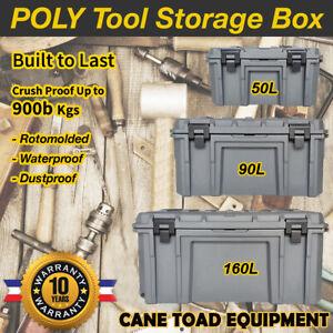 Poly Tool Box Storage Case Heavy Duty Waterproof Cargo Box Plastic Tool Box Trad