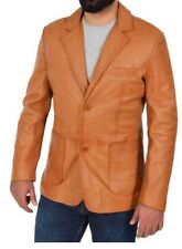Mens Leather Patch Pocket Blazer New design fashion jacket Sammy Tan