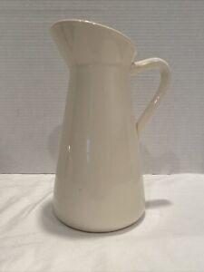 """Elegant Expressions by Hosley White Glazed Decorative Ceramic Pitcher Vase 10"""""""