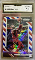2018 PANINI PRIZM LEBRON JAMES Red White Blue 10 GEM MINT Hall Of Fame SP Lakers