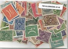 Lot 100 timbres d'Allemagne avant 1945