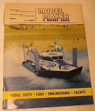 Model Maker & Model Cars Magazine, October 1962, Airfix Slot Cars, Ships, Boats