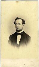 Barthélemy NANCY 1860 un homme pose collier de barbe hispter PHOTO CDV