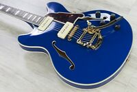 D'Angelico Excel DC Shoreline Semi-Hollowbody Electric Guitar Bigsby Indigo