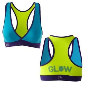 Zumba Fitness Shout Out V-Bra Top - Lagoon LARGE (L)