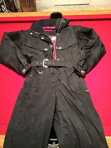 Women's Spyder One Piece Snow Ski Suit In Black USA Size 8