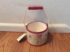 Boyd's Home Rose Ticking Ceramic Votive Holder 4� Mwt