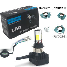 H4 4 Sides COB Hi/Lo LED Motorcycle Motor Headlight Bulb Lamp White 3000LM 24W