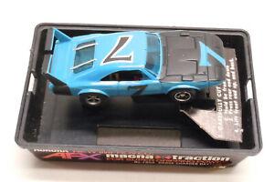 Vintage Aurora AFX Magna Traction Blue #7 Dodge Charger Daytona HO Slot Car 1900