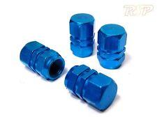 Aleación Rueda Neumático De Coche Azul Polvo Tapa de Válvula Tapa X 4 Cápsulas De Aluminio Ford