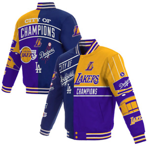 Los Angeles JH Design 2020  City of Champions Embroidered Cotton Twill Jacket