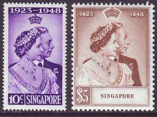 Singapore 1949 SC 21-22 MH Set Silver Wedding