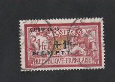 CROIX-ROUGE GUERRE Dallay N°5D Orphelins P.T.T. Guerre 1 f + 1 f Merson OBLITÉRÉ