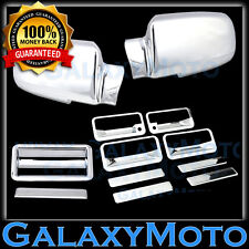 88-98 CHEVY C+K 1500+2500+3500 Triple Chrome Mirror+4 Door Handle+Tailgate Cover
