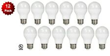 12 Pack - LED 100 Watt Equivalent 12W 3000K A19 Warm White Light Bulb 100W UL
