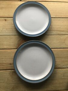 2 DENBY COLONIAL BLUE 6.75 INCH TEA PLATES 1st QUALITY