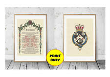 Surname Family Name History Origin Meaning Coat of Arms Crest on 2 x A4 A Prints