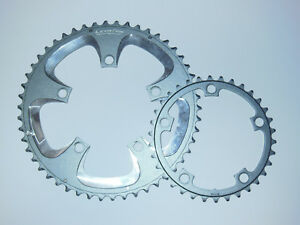 Used Praxis Levatime Cold Forged 50/34 Compact Chainring Set Grey/Silver 110 BCD