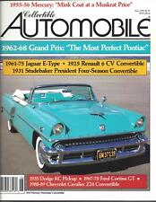 Collectible Automobile Magazine Month Year Vol 7 - No 1