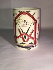 Staffordshire Creamware Liverpool Tankard Masonic Mason Circa 1790 Enamel & RARE