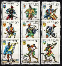 San Marino - 1973 Uniforms & weapons -  Mi. 1046-54 VFU