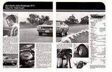 1970 DODGE CHALLENGER R/T * DON GARLITS *   ~  ORIGINAL 2-PAGE MUSCLE CAR AD