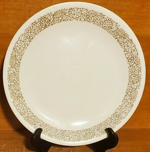 """Corning Corelle WOODLAND BROWN Salad plate, 8 1/2"""", Floral, Excellent"""