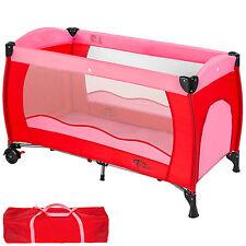 Lit bébé pliant lit de voyage enfant lit d'enfant parapluie parc pour bébé rose